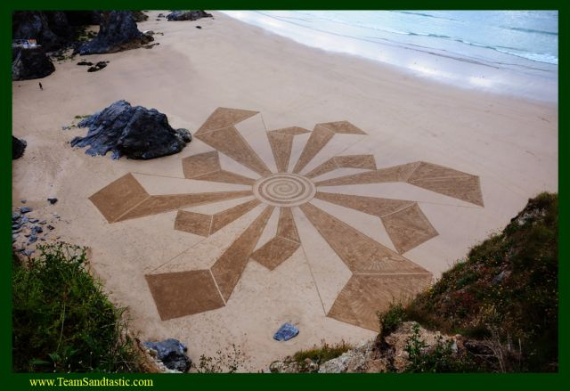 Aerial Sand Sculptures